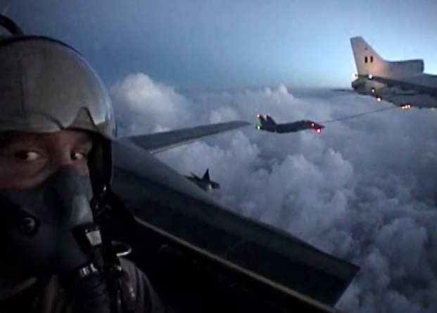 Cool HD Video shows VF-211 F-14A Tomcats taking fuel from RAF Tristar Tanker
