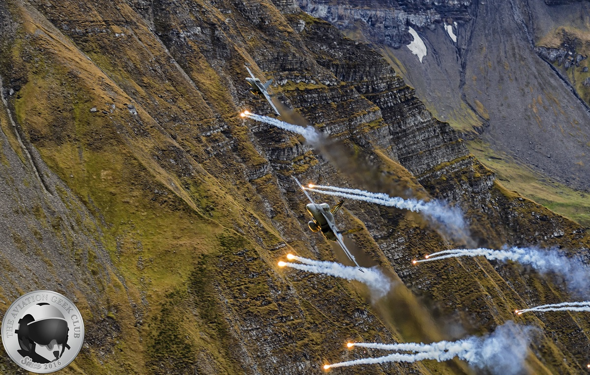Last Axalp Air Power Demonstration for Swiss Air Force F-5 Tiger IIs