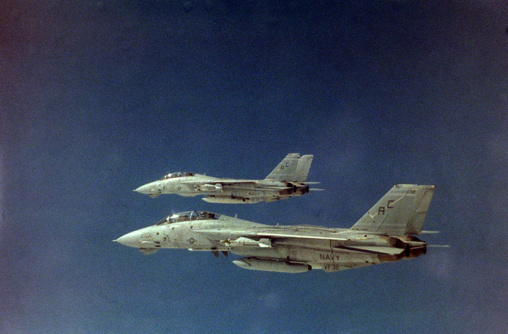 Tomcat 4-Libya 0: how two U.S. Navy F-14s shot down two Qaddafi's MiG-23s over the Gulf of Sidra on Jan. 4, 1989