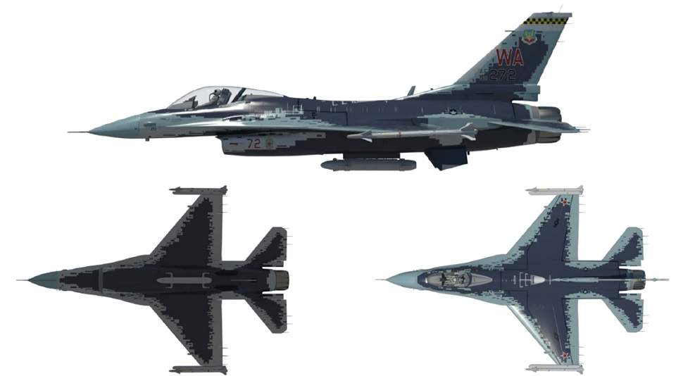F-16/Su-57 and F-35/J-31 Aggressor Paint Schemes unveiled