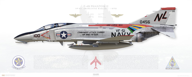 The story of VF-51 Screaming Eagles F-4 Phantom II's Flamboyant Markings in Vietnam
