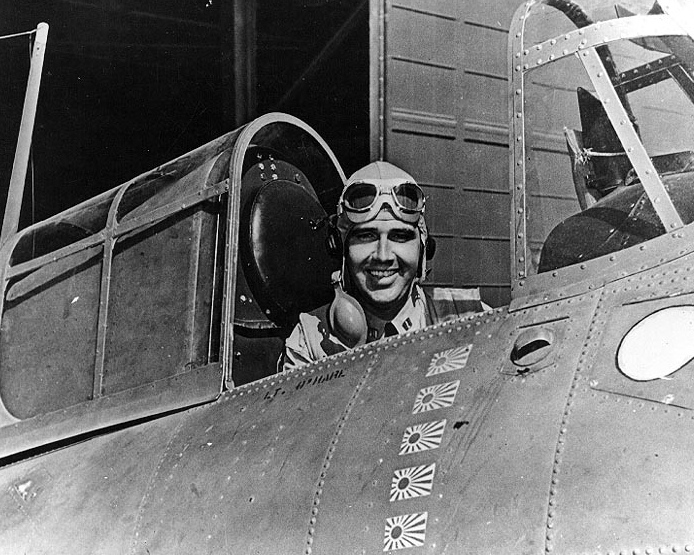 The Story of Butch O'Hare, the F4F Wildcat Pilot that shot down 5 Japanese Bombers Expending only 60 Rounds of 0.50-caliber ammunition