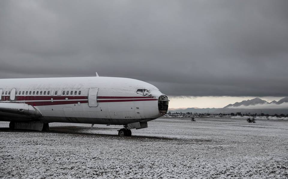 Check Out these photos of 309 AMARG Aircraft Covered With Snow
