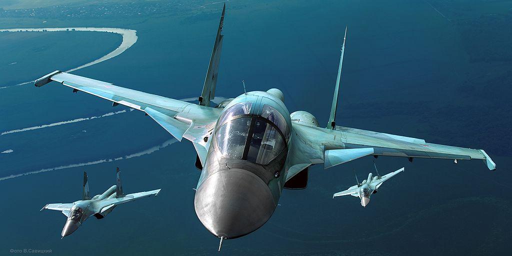 Two Russian Su-34 Fullbacks Collided Twice during the Same