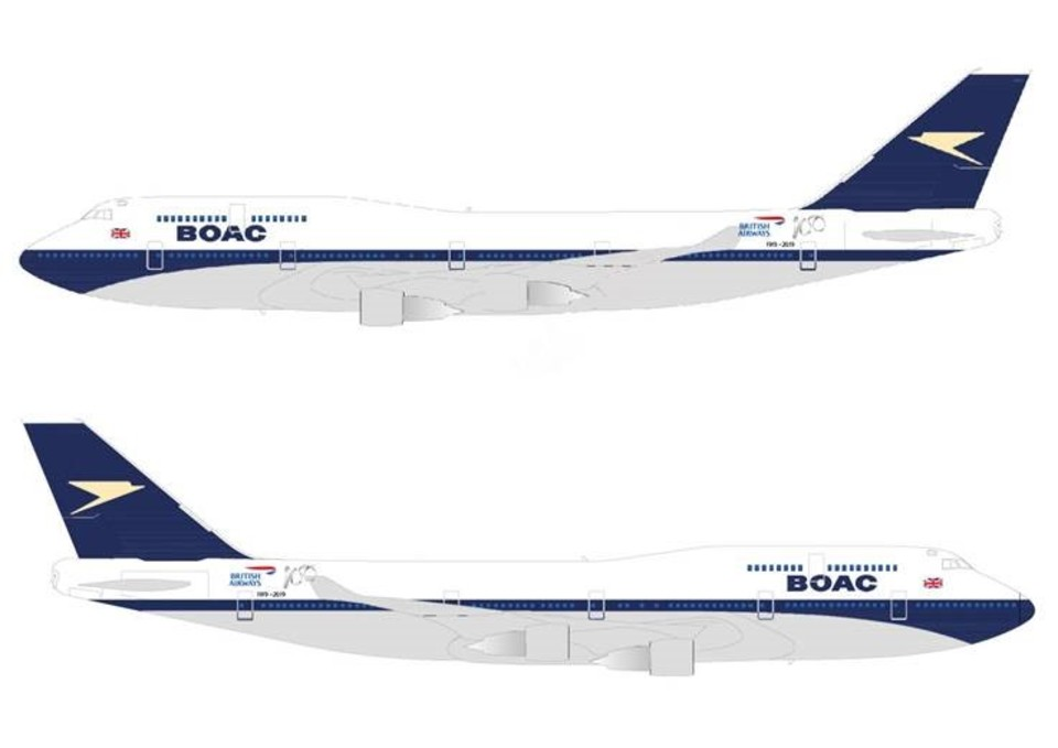 British Airways to paint Boeing 747 in retro BOAC Paint Scheme