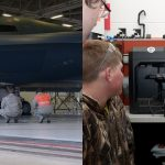 High School Students help USAF Airmen to build part for B-2 Spirit Stealth Bomber