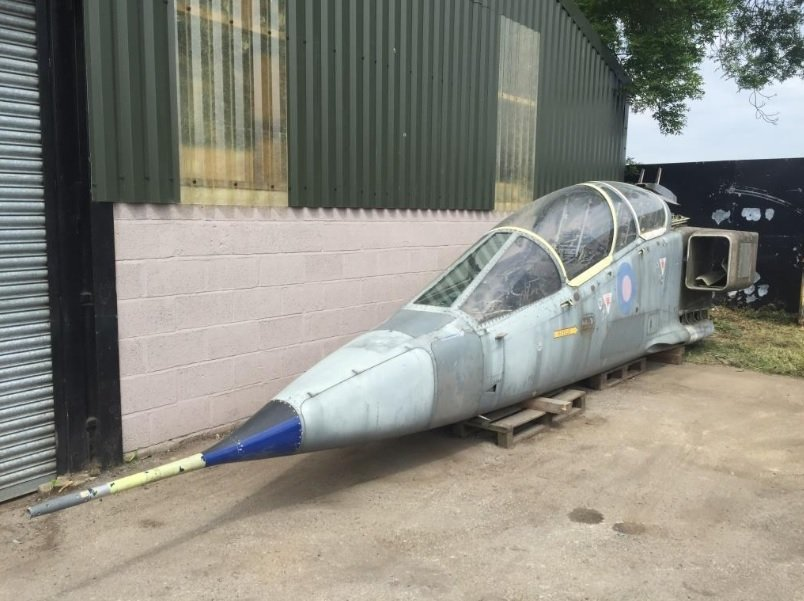 Rare RAF Jaguar T2 Cockpit Section on Sale on eBay. And for 9,999.99 GBP (Plus Shipping) it can be yours.