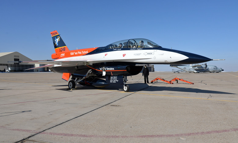 New paint scheme for USAF Test Pilot School's F-16 VISTA
