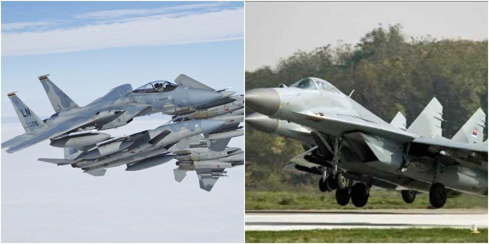 95128ba6dfb F-15 Vs MiG-29: the 493rd FS MiG Kills scored during Operation ...