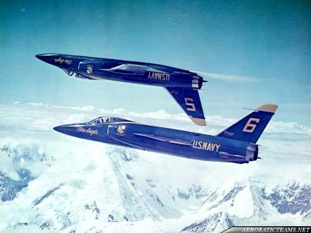 The Blue Angels F11F Back-to- Back Pass that thrilled SAC General Curtis Lemay
