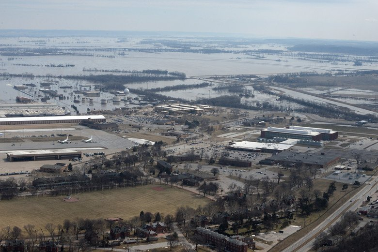 One-third of Offutt AFB Underwater, Eight RC-135 Rivet Joints and One E-4B Doomsday plane Evacuated