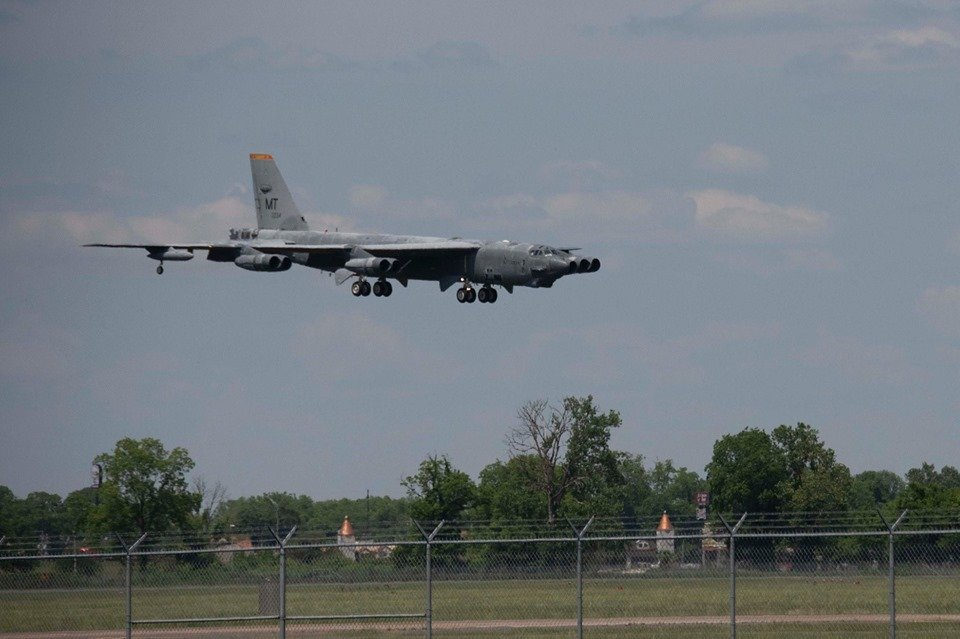 "Here are the first photos of ""Wise Guy,"" the second B-52H ever to be taken from AMARG for active service"