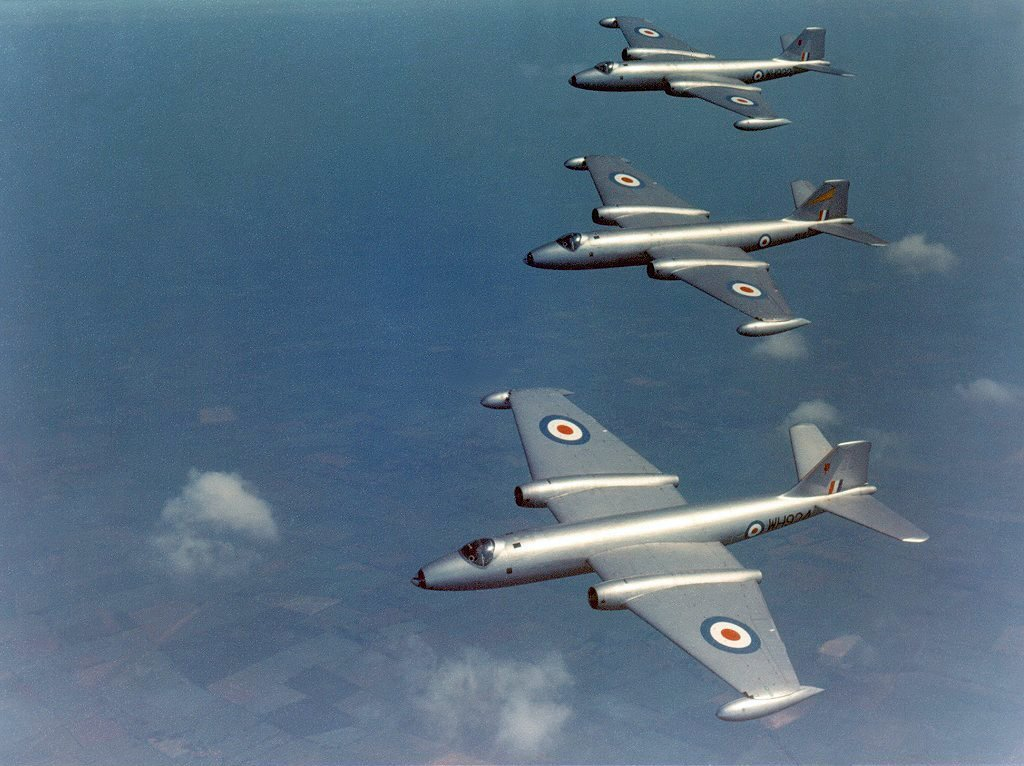 The story of the RAF Canberra bomber that nearly crashed during a mock dogfight with PAF F-104s