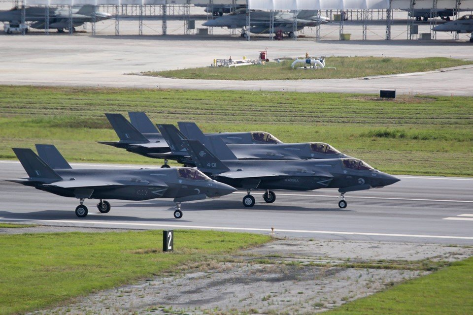 First Elephant Walk for USMC F-35B Stealth Fighters