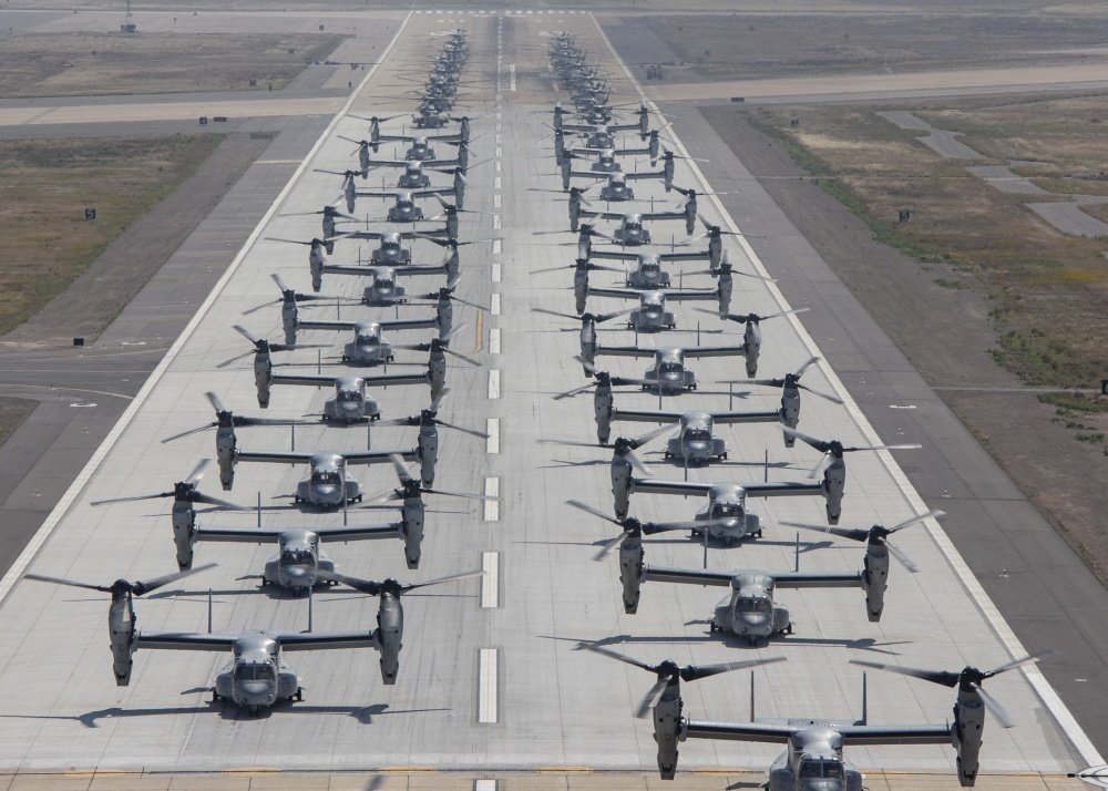 Check out video and photos of Elephant Walk conducted by USMC MV-22Bs and CH-53Es to celebrate the 75th Anniversary of D-Day