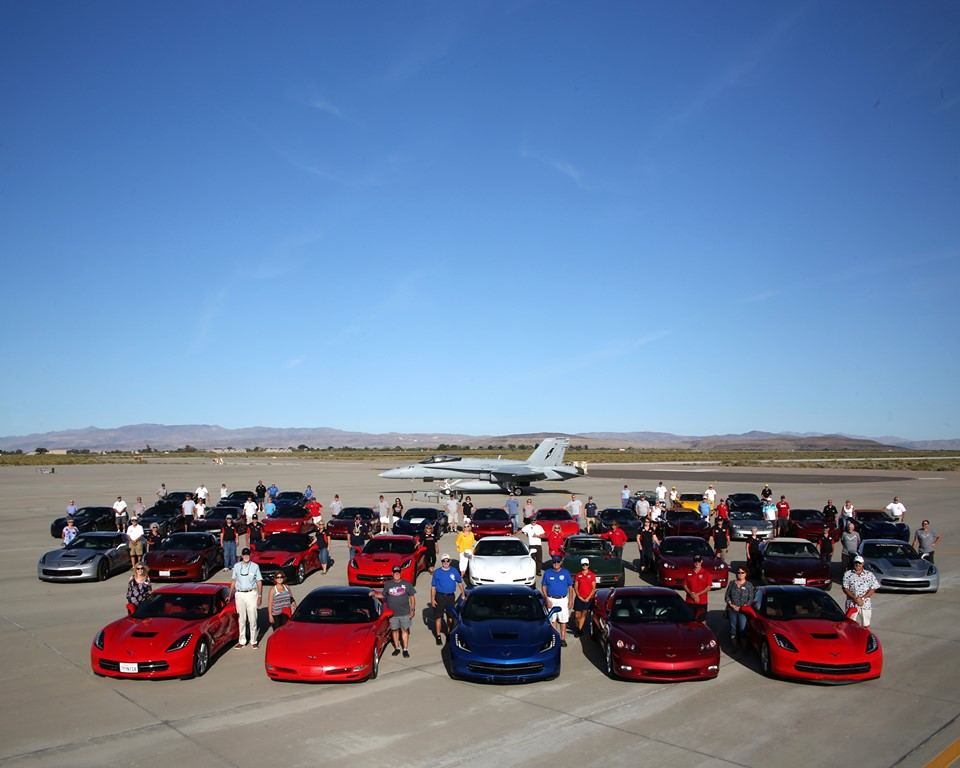 25th Anniversary of the National Corvette Caravan paid a visit to NAS Fallon