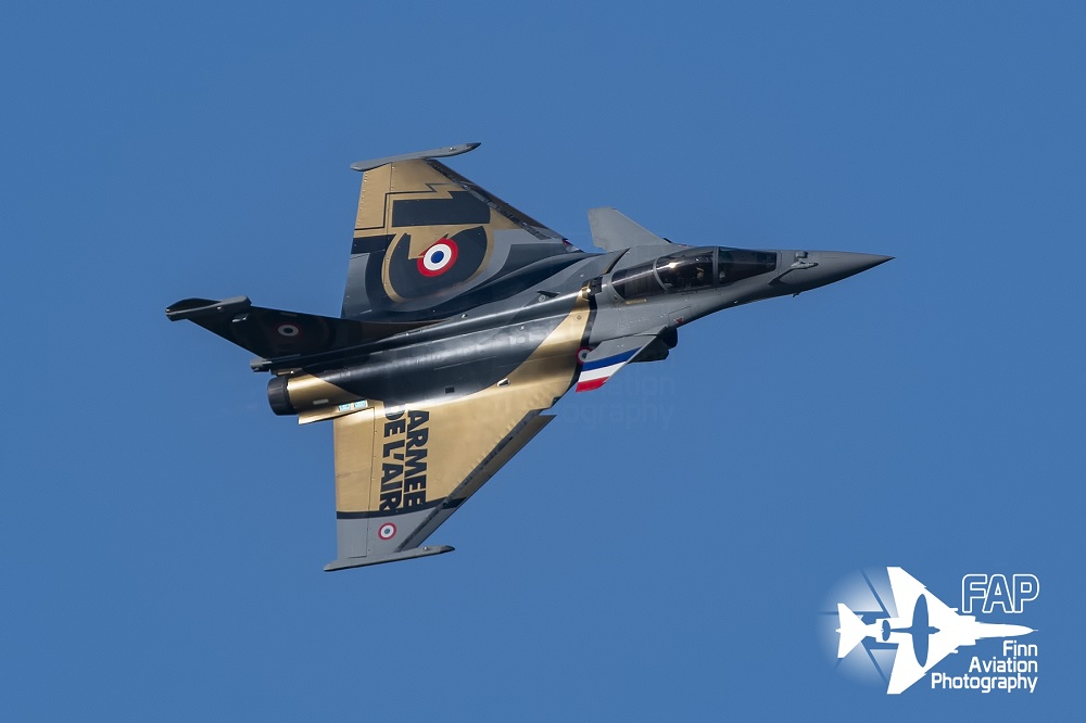 French Air Force Rafale Solo Display Celebrates its 10th Anniversary. And Here are some Unique Photos showing the New Paint Scheme Worn by the Team Aircraft.