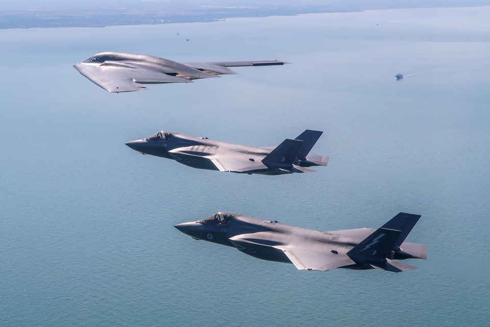 Check out these Awesome Pictures of USAF B-2 Spirits Conducting Integration Flying Training With RAF F-35B Joint Strike Fighters