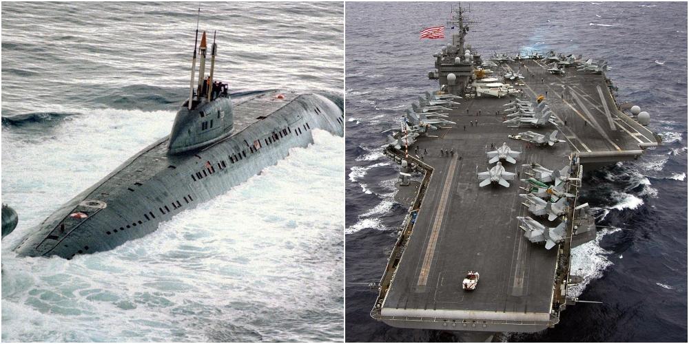 The Day Soviet Nuclear Submarine K-314 Rammed USS Kitty Hawk