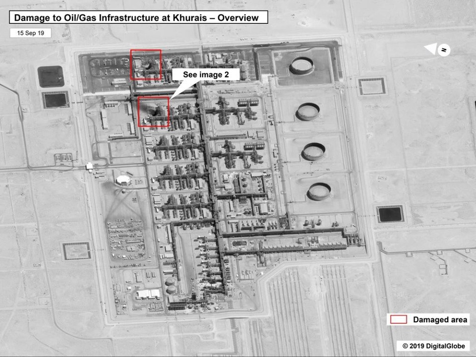 Declassified Satellite Imagery Suggests That Attacks against Saudi Aramco Oil Facilities was carried out by Iranian Cruise Missiles/Sophisticated Drones