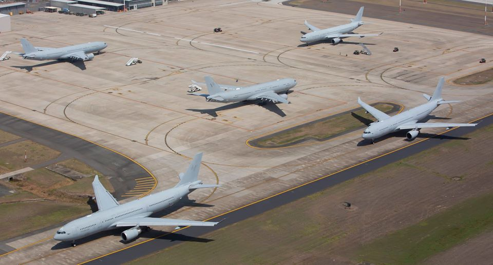 First Elephant Walk for RAAF KC-30A Multi-Role Tanker Transport aircraft