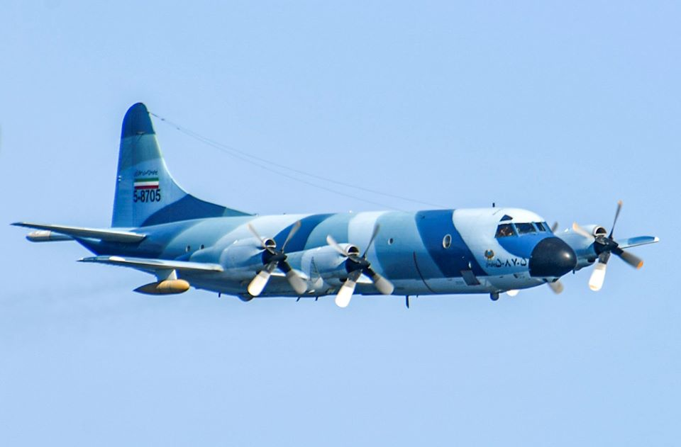 IRIAF P-3F Orion Buzzes US Navy Ships in the Gulf of Oman