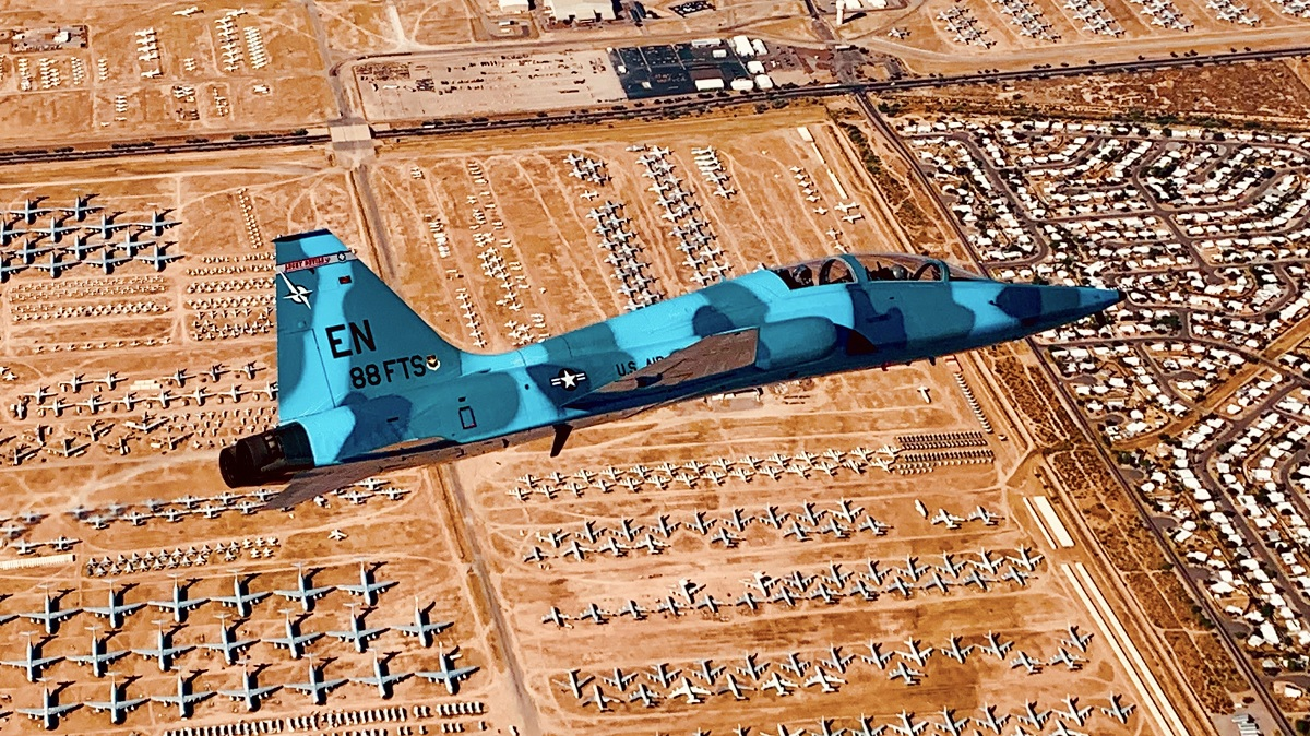 T-38s from Sheppard AFB provided Aggressor Training to F-35s and F-16s at Luke AFB