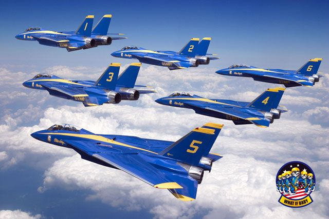 Interesting Images Feature the Iconic F-14 Tomcat with Blue Angels and Thunderbirds Liveries