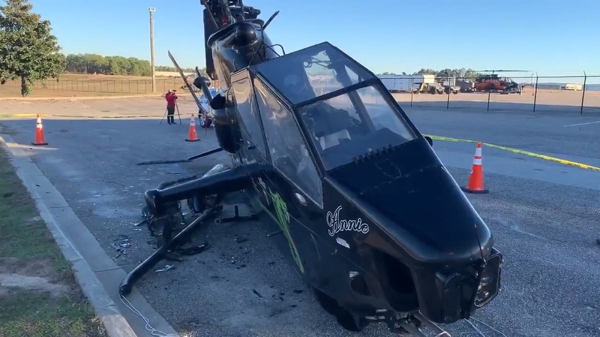 Drunk Driver Caused Half a Million Dollars of Damage after Crashing into Cobra Attack Helicopter