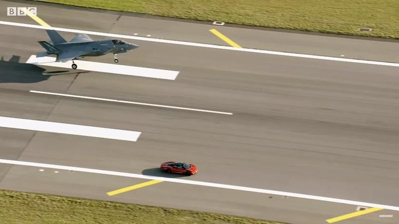 Top Gear Season 28 Trailer Features McLaren Speedtail racing RAF F-35 Fighter Jet