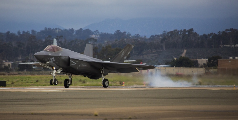The Black Knights of VMFA-314 Receive USMC first F-35C Lightning II
