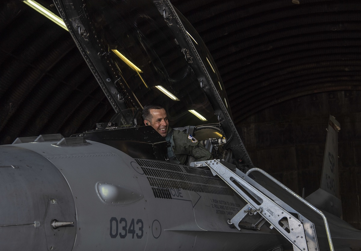 This F-16 is the First Viper in Europe, 2nd in USAF inventory to clock 10,000 flight hours