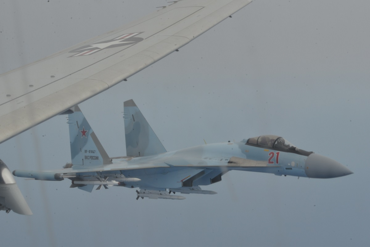 US Navy releases Videos and Pictures of Russian Su-35s making unsafe intercept of P-8A over Eastern Mediterranean
