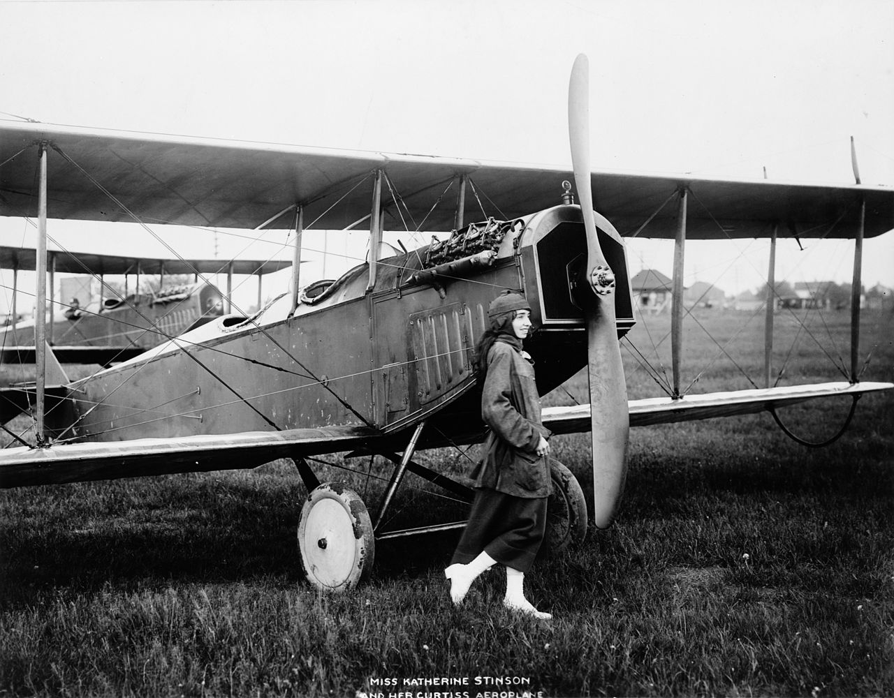The story of Katherine Stinson the first woman (and only the fourth American pilot) to perform a loop