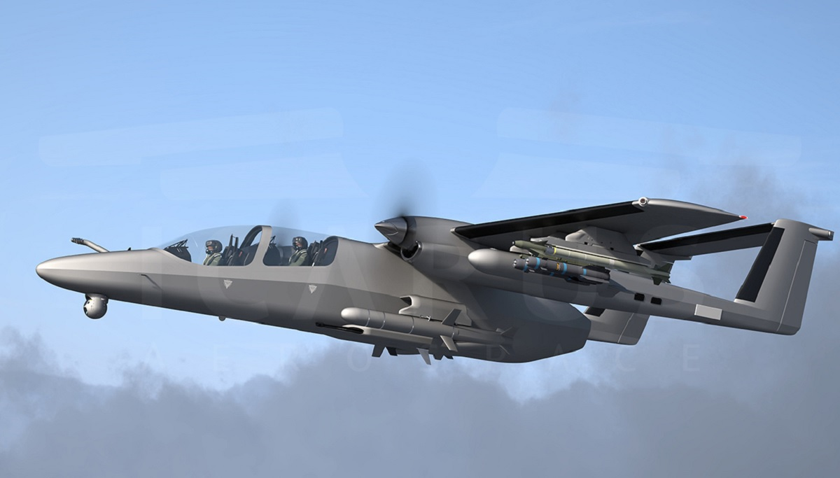 OV-10 Bronco 2.0: meet TAV, the new clean-sheet multirole aircraft developed by Icarus Aerospace