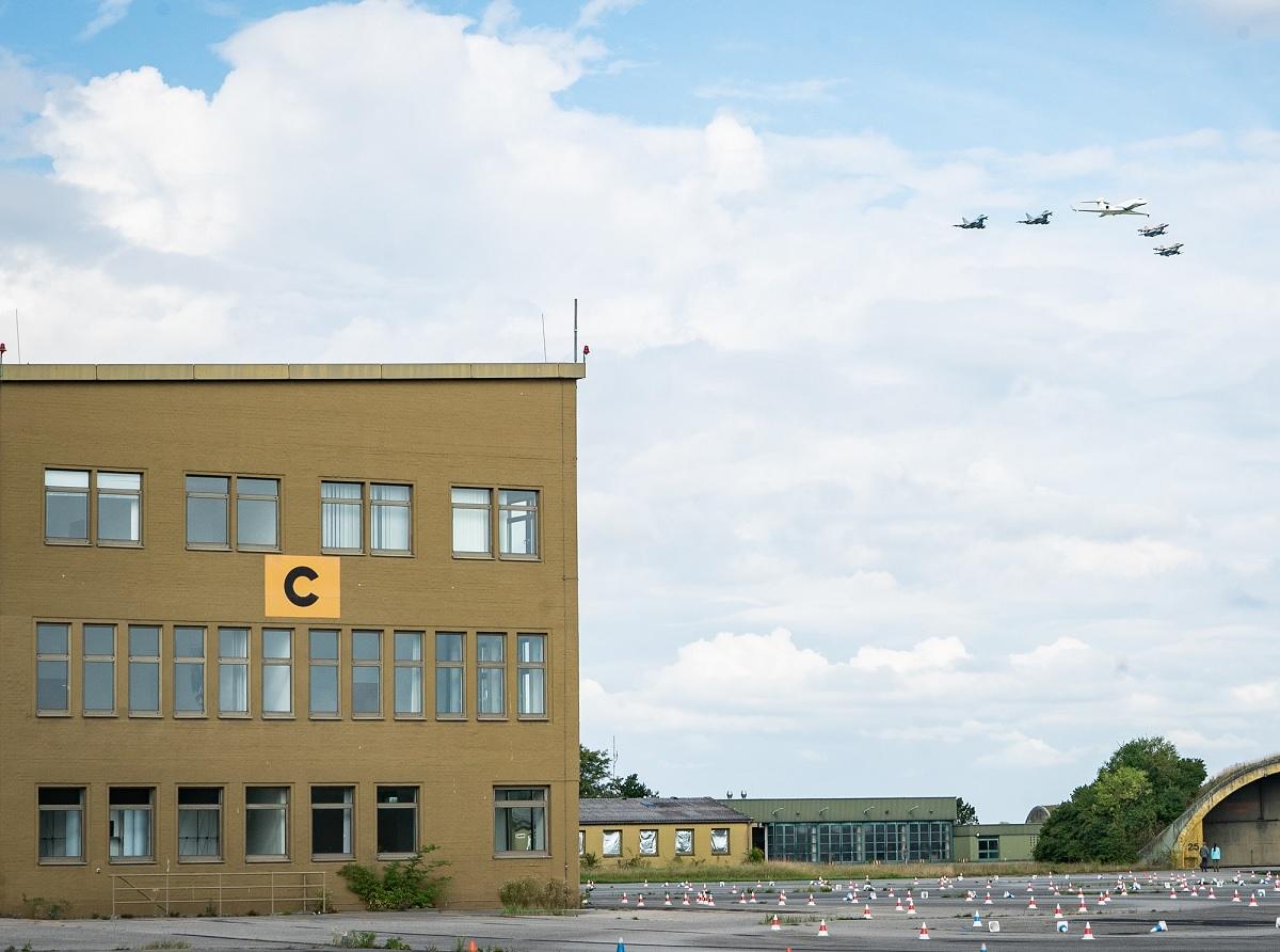 IAF and Luftwaffe aircraft perform historic joint flyby at Dachau concentration camp and Olympic Village in Munich
