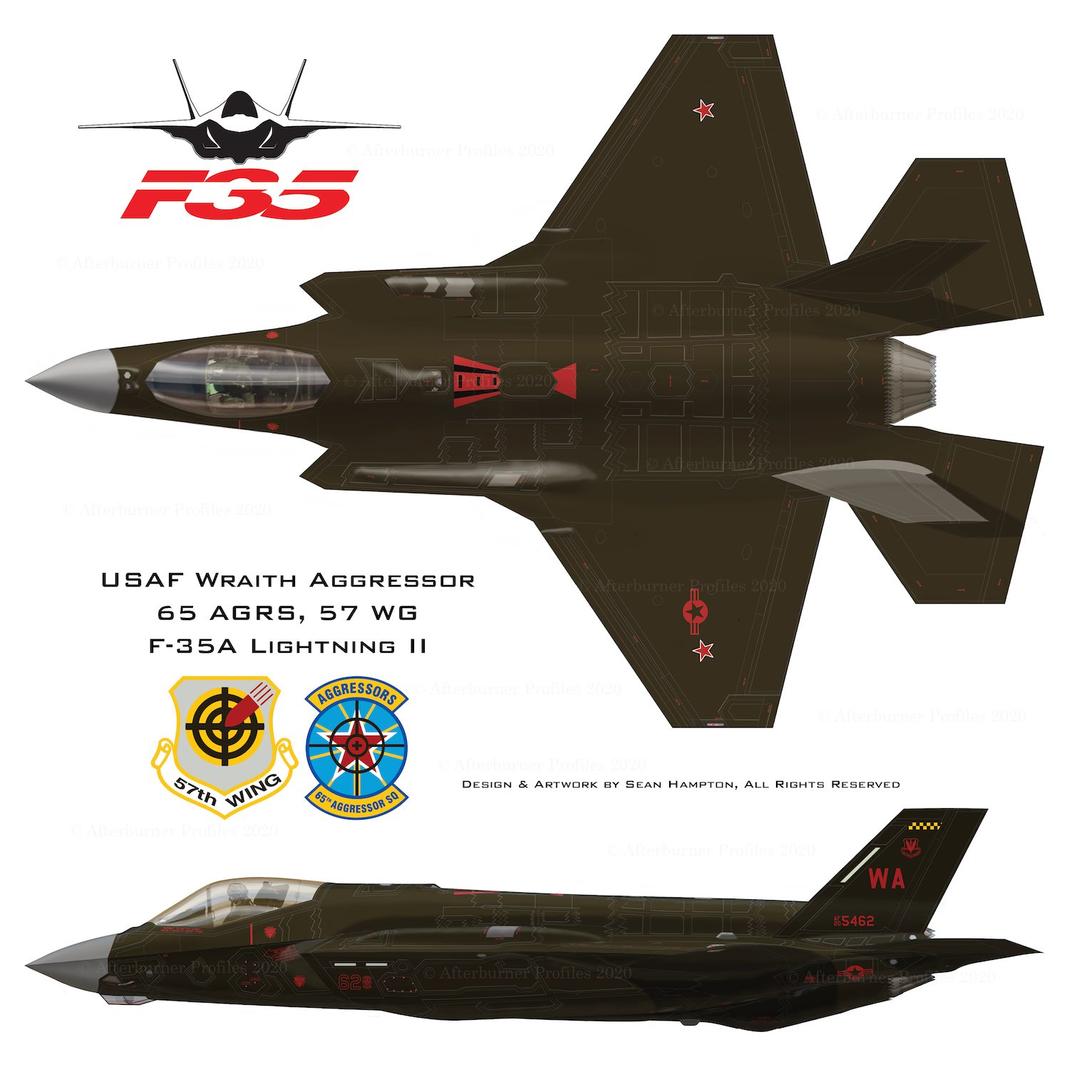 Here are some of the paint schemes that future F-35 Aggressors could wear
