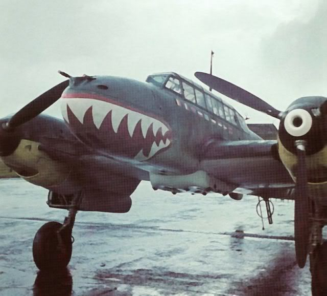 How a Luftwaffe Sharkmouthed Me 110 inspired Flying Tigers' legendary tiger mouth insignia