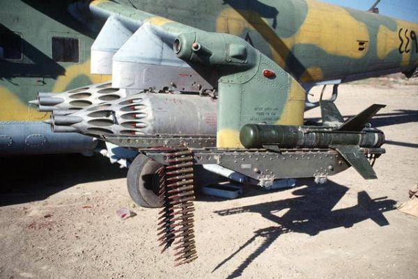 The fake story of the Iraqi Mi-24 attack helicopter that shot down an Iranian F-4 using an anti-tank guided missile