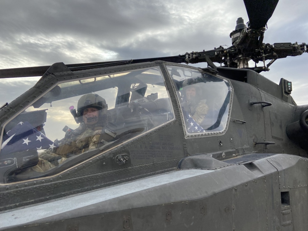 Twin pilots get Apache flight together in Afghanistan