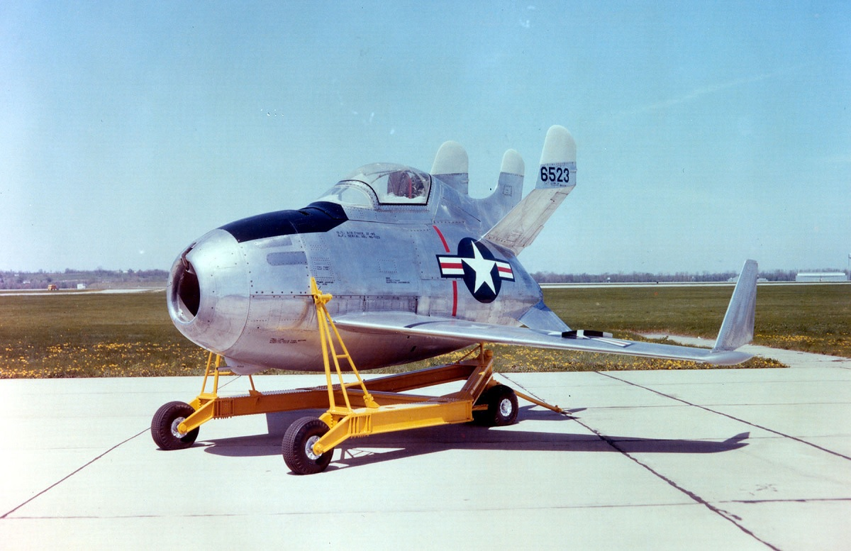 """These photos show why the XF-85 Goblin """"parasite"""" fighter was the most bizarre aircraft ever built"""