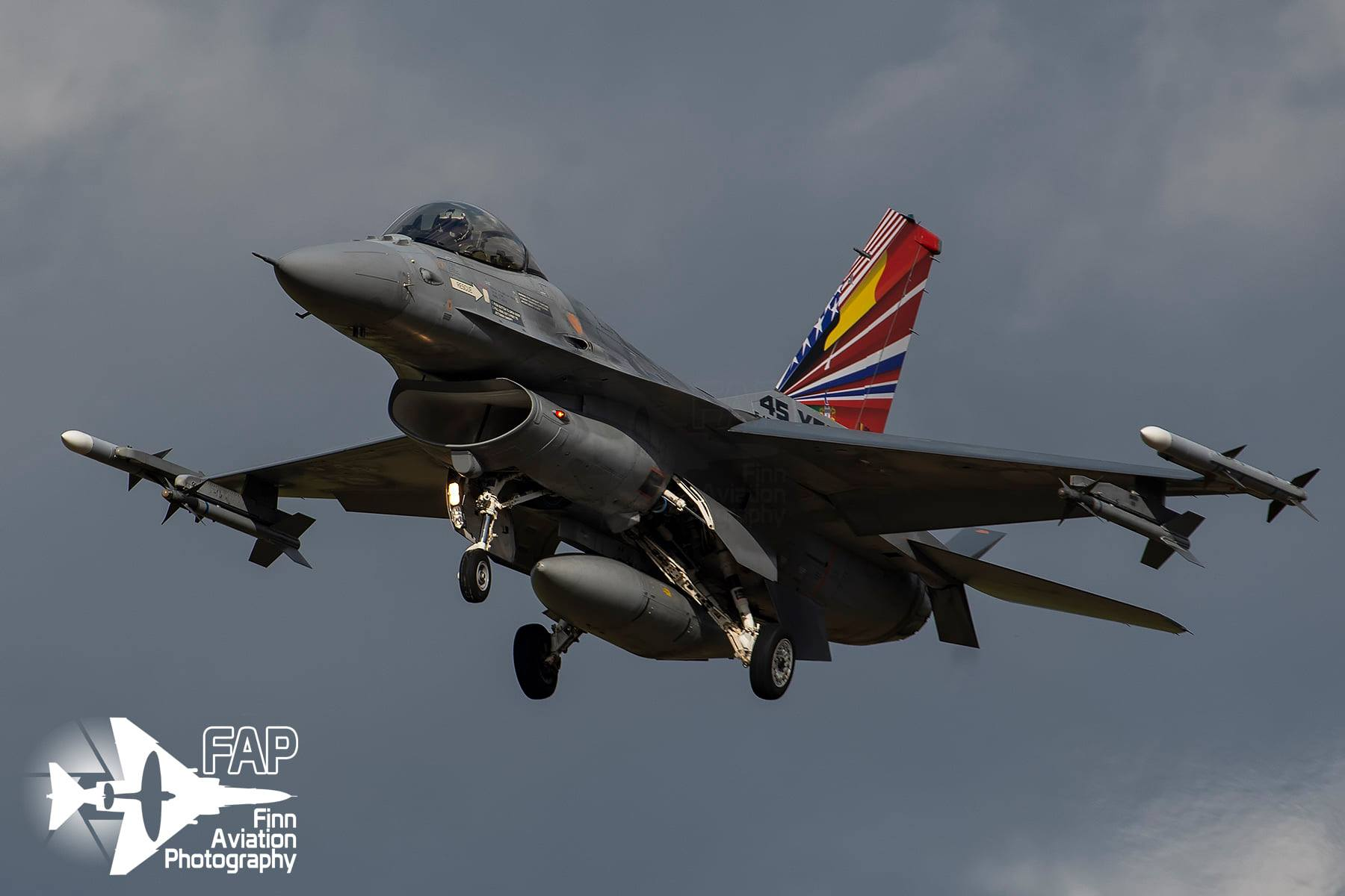 Belgian Air Force unveils F-16 with cool tail flash celebrating 45 years of Multi National Fighter Program