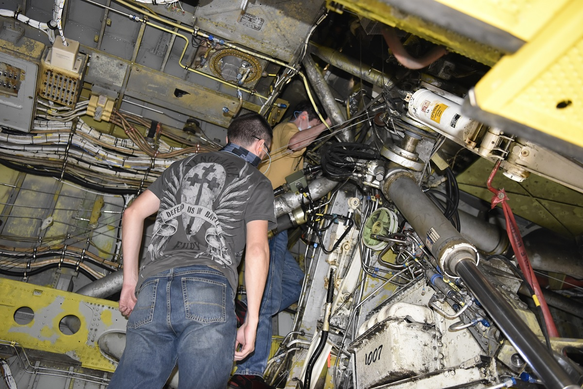 """Ghost Rider and Wise Guy, the only two B-52H bombers regenerated from """"Boneyard"""", undergoing simultaneous maintenance at Oklahoma City Air Logistics Complex"""