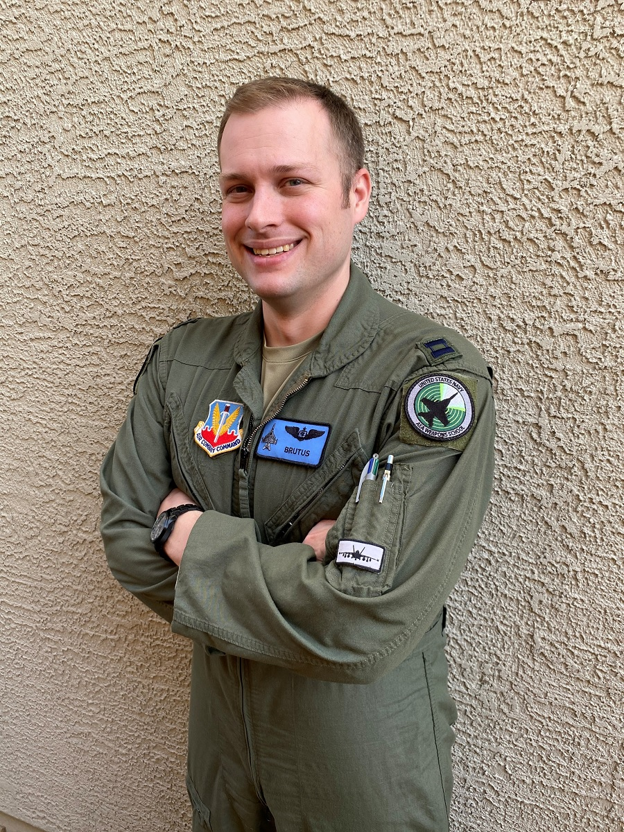 "Meet Capt. Aaron ""Brutus"" Tindall, first USAF airman to graduate from Navy Airborne Electronic Attack weapons school"