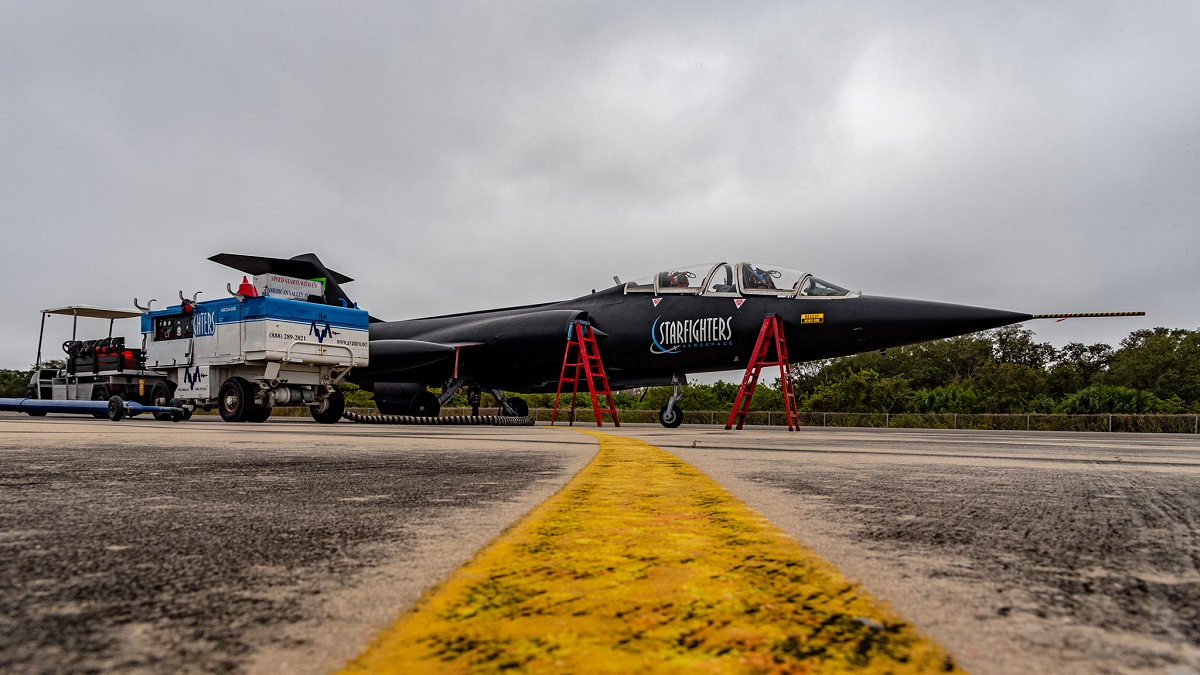 Starfighters' Black Beauty almost ready for the first flight.