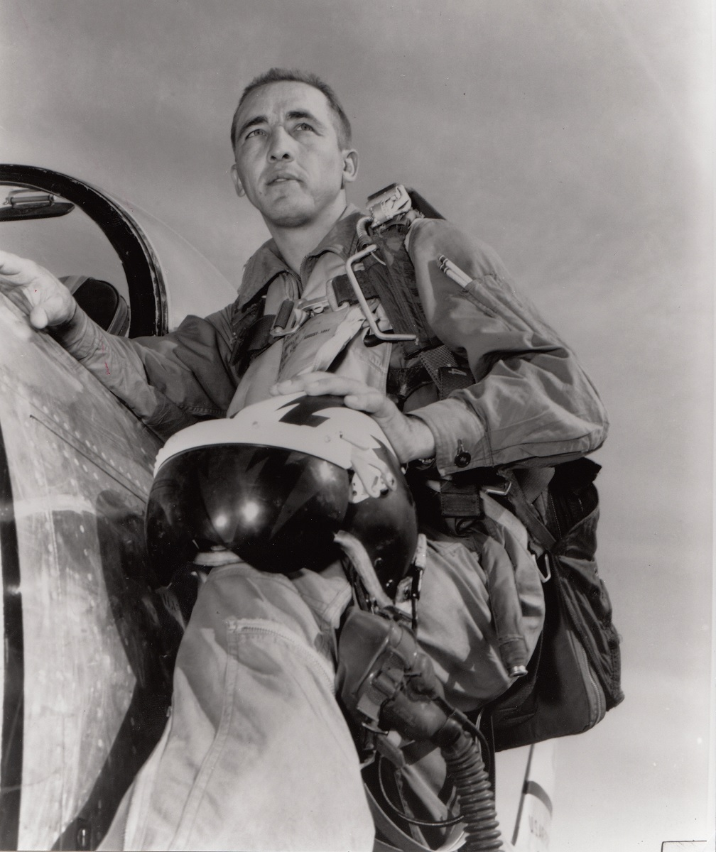 """The day F-86 pilot """"Robbie"""" Risner pursued a MiG-15 flying between two hangars of an airfield 35 miles inside China"""