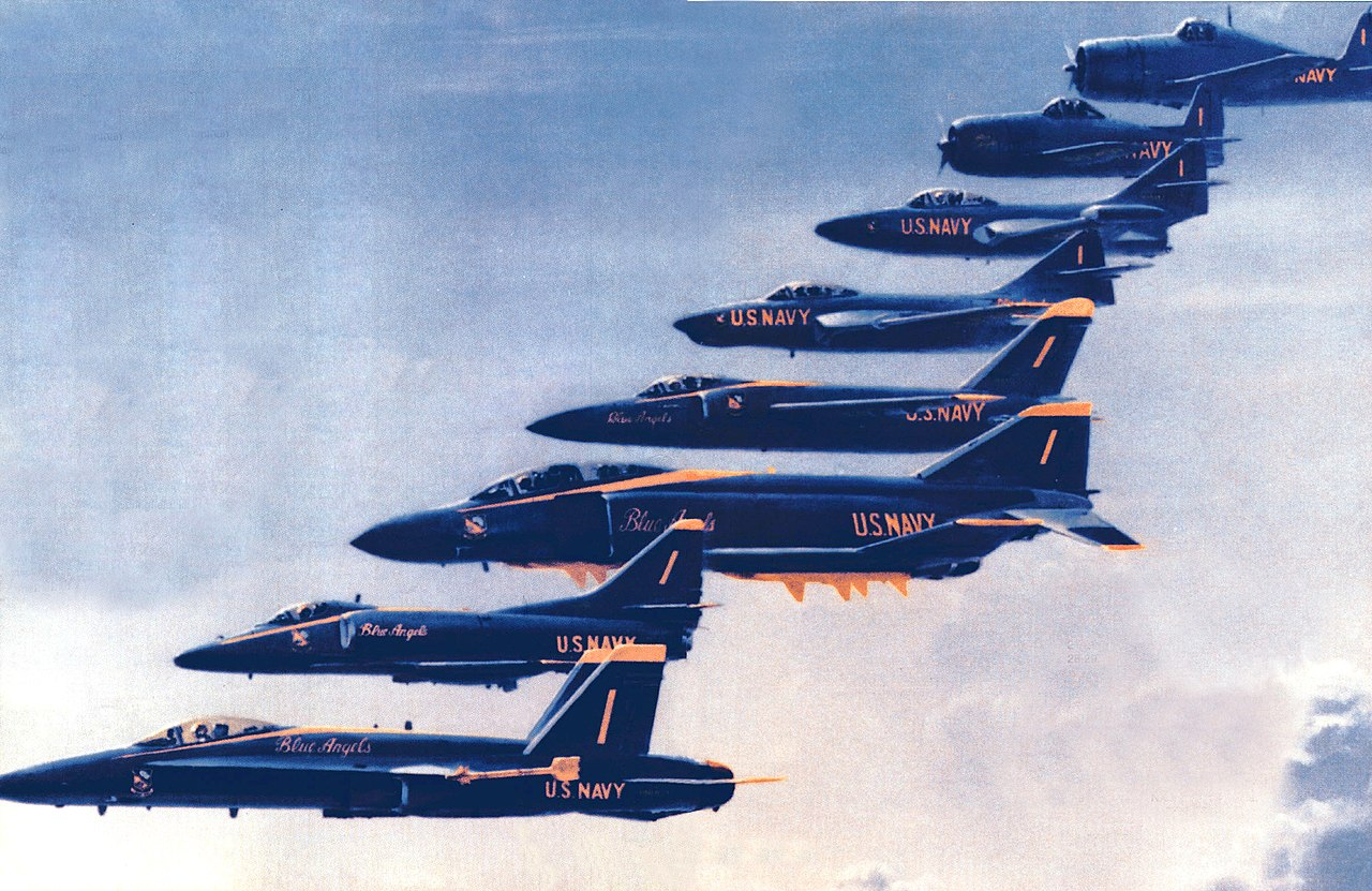 Did you know the US Navy Blue Angels were named after a nightclub in New York by the original team in 1946?