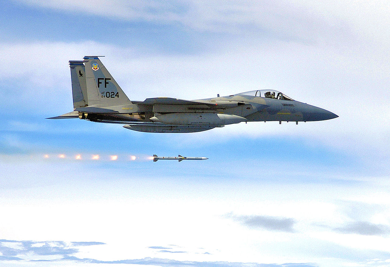 F-15C scores aerial kill from the furthest distance ever recorded by firing an AIM-120 at a BQM-167 drone and brings to memory famous AIM-54 six-on-six missile shot test