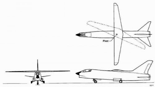 The story of NASA F-8 Crusader Oblique Wing Test Aircraft that never was