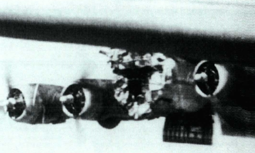The headless B-17: this Flying Fortress was hit by an 88mm shell but remained in formation giving the chance to those who survived to bail out safely